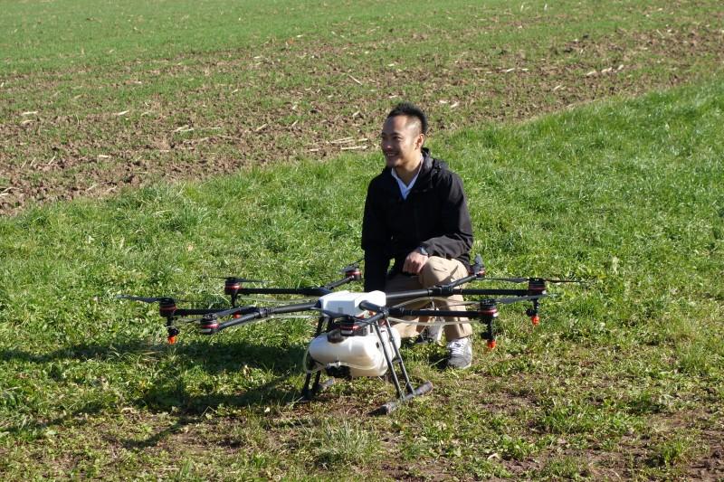 Démo DJI drone traitement Agras MG1 211117DSC0080